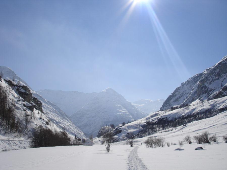 Les sommets enneigés du côté de Bonneval sur Arc
