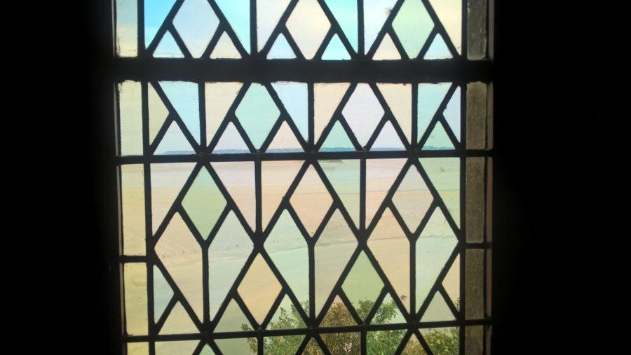 vitraux sur le mont Saint michel