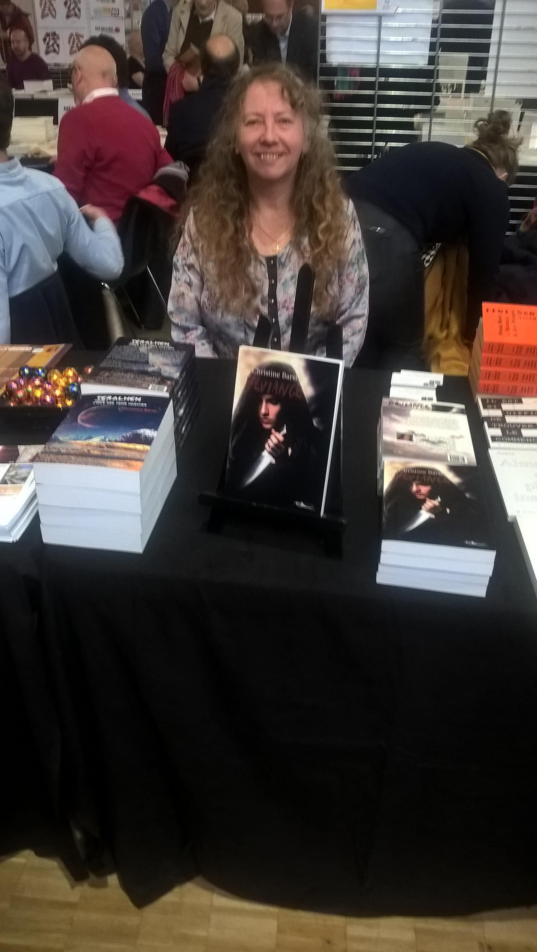 L'écrivaine Christine Barsi sur son tout premier salon des Éditeurs Indépendants