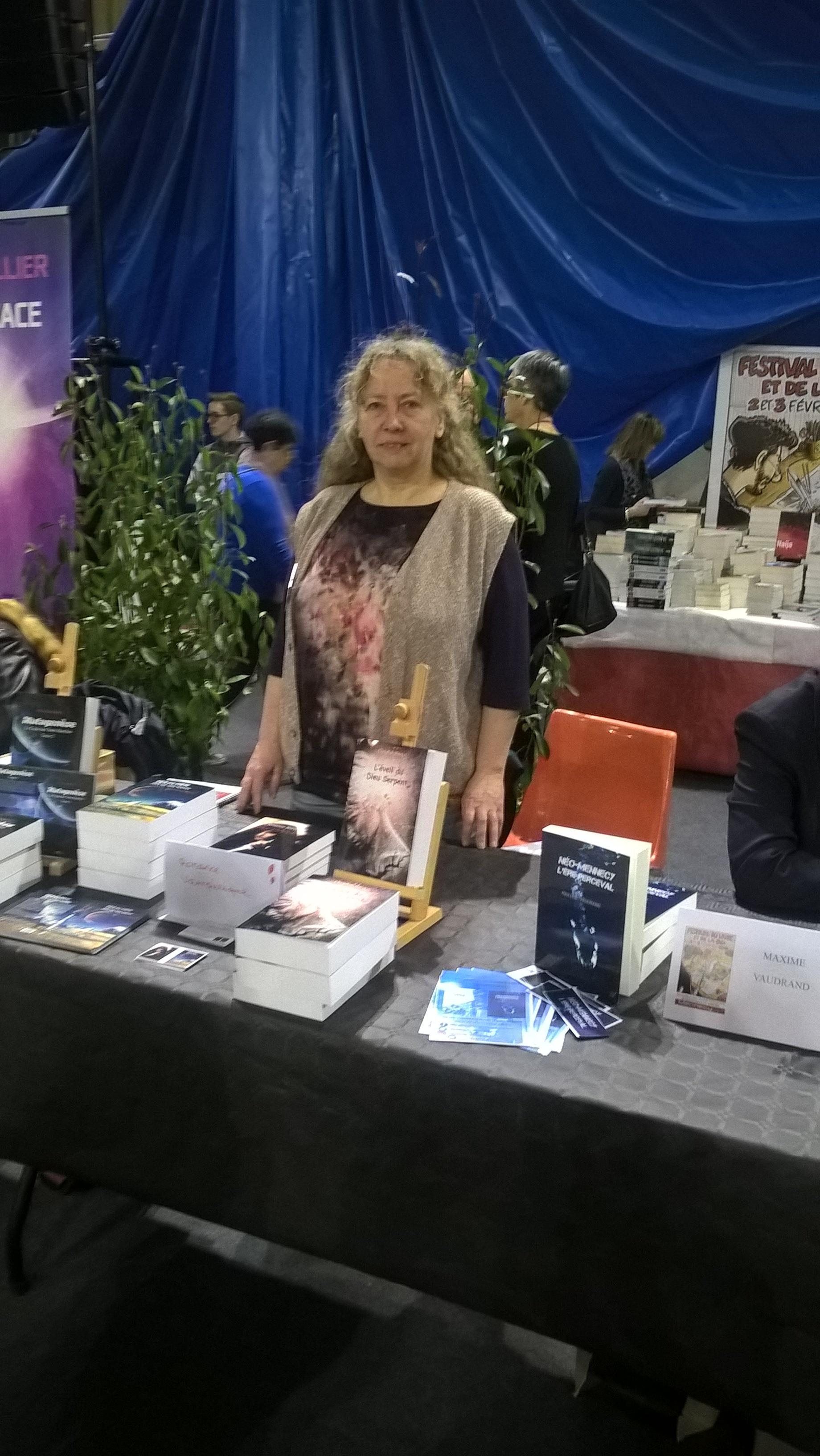 L'auteure Christine Barsi au salon du livre et de la BD de Mennecy - Février 2019