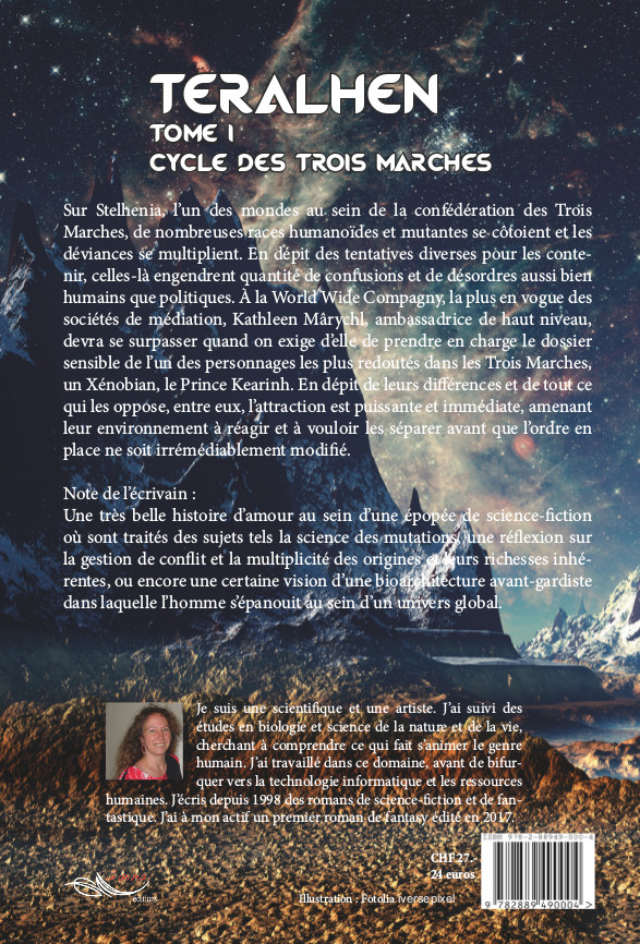 Roman de science-fiction Teralhen, tome 1 du Cycle des Trois Marches, par l'auteure Christine Barsi