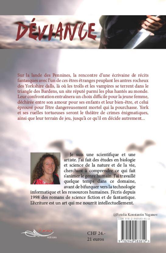 Roman de vampire Déviance - 4ème de couverture