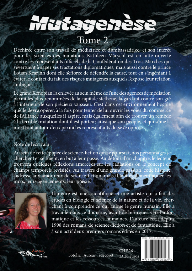 Roman de science-fiction Mutagenèse, tome 2 du Cycle des Trois Marches