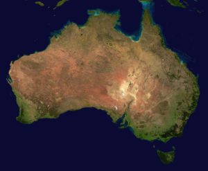 Carte d'Australie