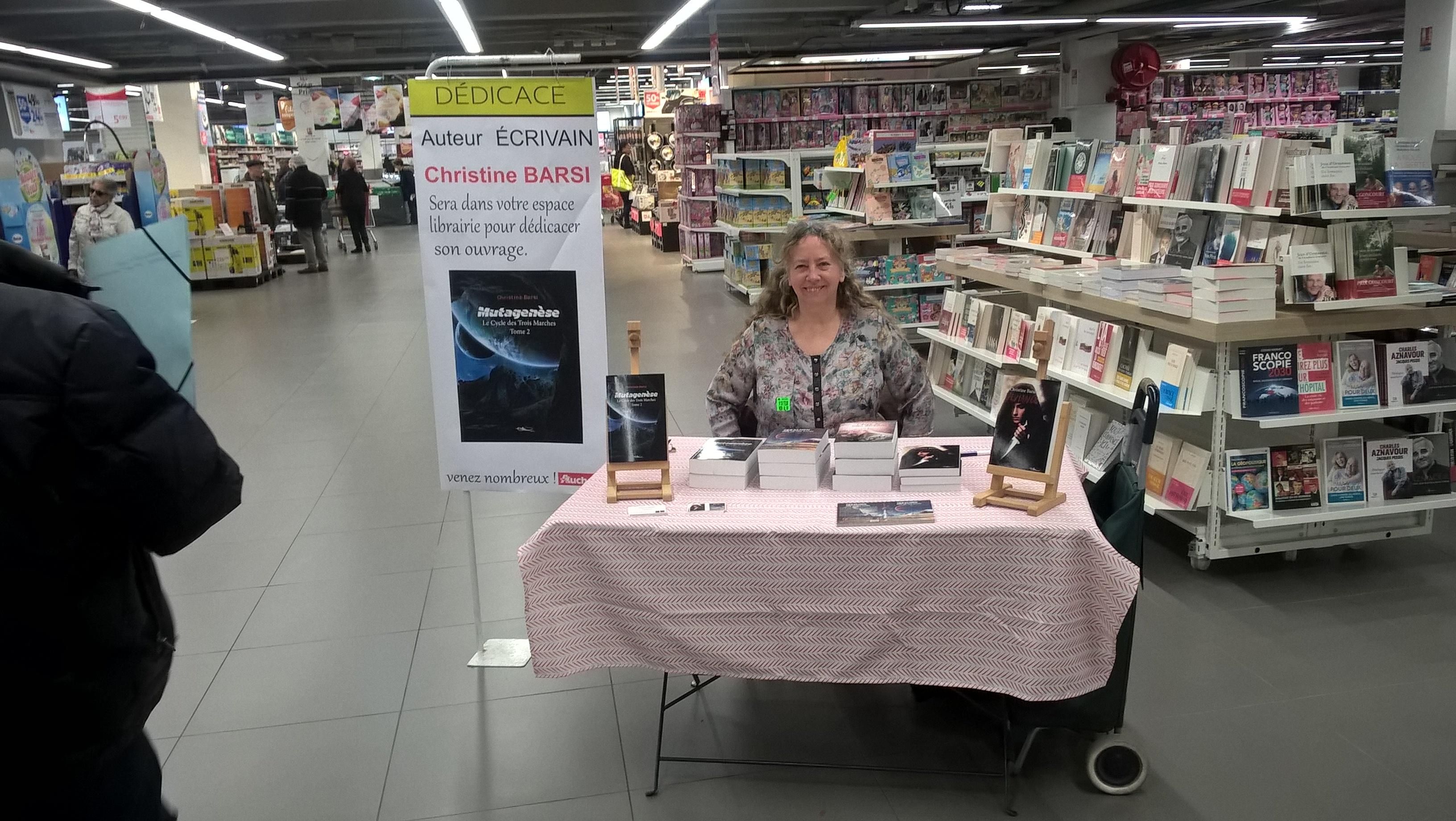Séance de dédicace de l'auteure Christine Barsi - Auchan - fév.2019