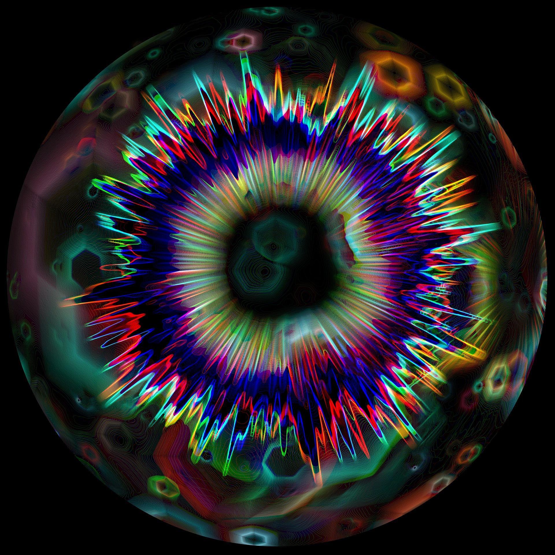 Mouvements des atomes pour illustrer le discours de Maur Evans dans L'éveil du Dieu Serpent