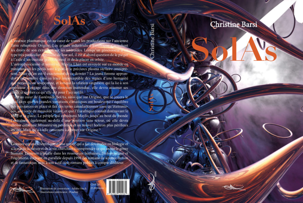 Roman de science-fiction SolAs, par l'auteure Christine Barsi