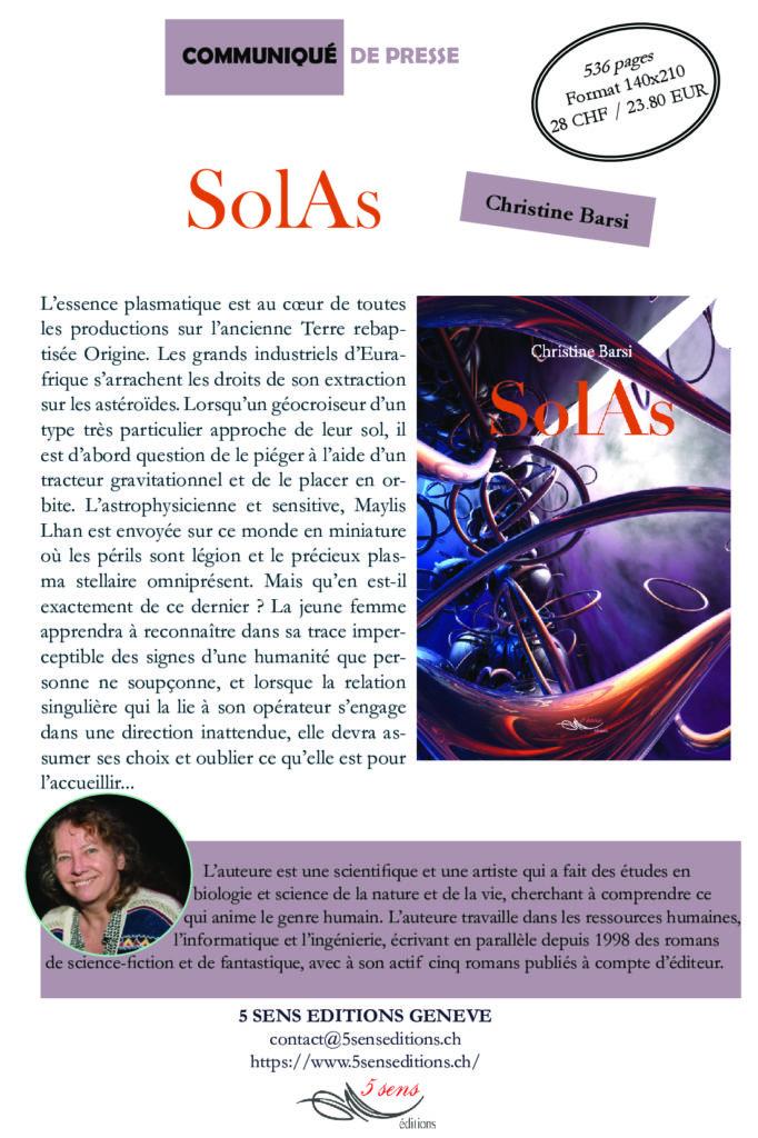 Communiqué de presse - SolAs