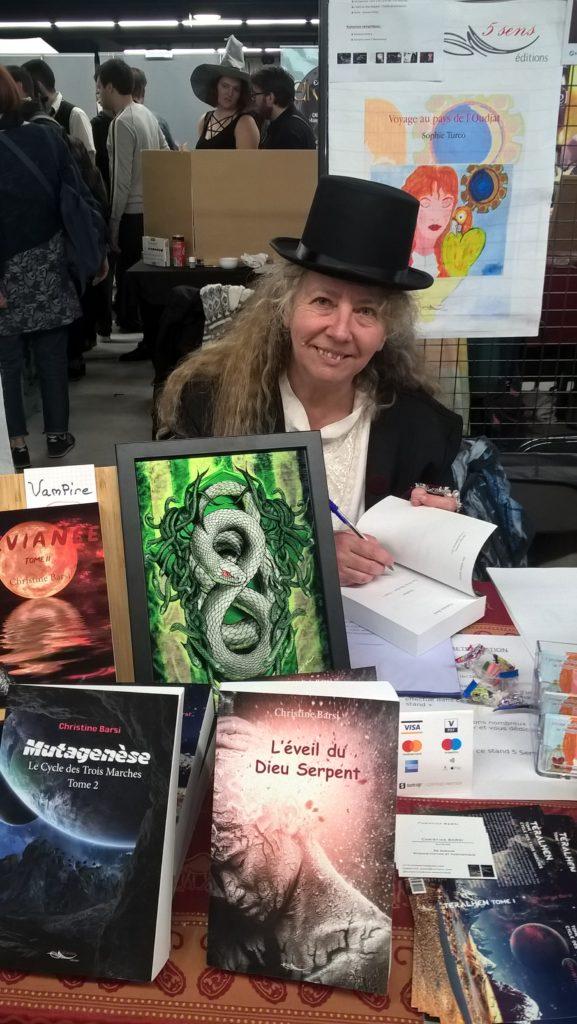 L'auteure Christine Barsi au Salon Fantastique 2019