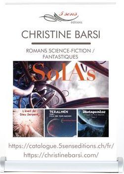 Mini Roll-Up de l'auteure Christine Barsi