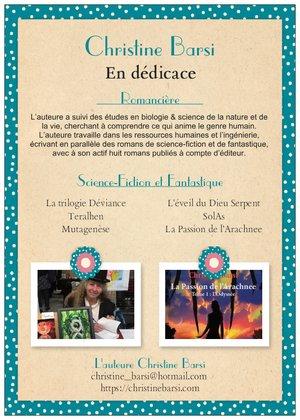 L'auteure Christine Barsi en dédicaces sur Bellême