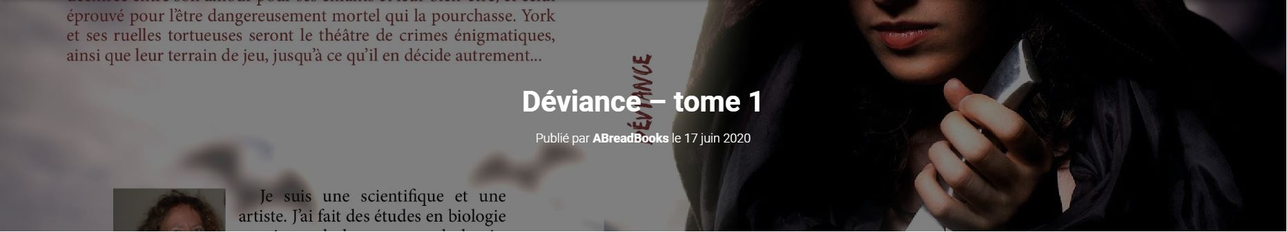 Site Abbey Read - Déviance Tome 1