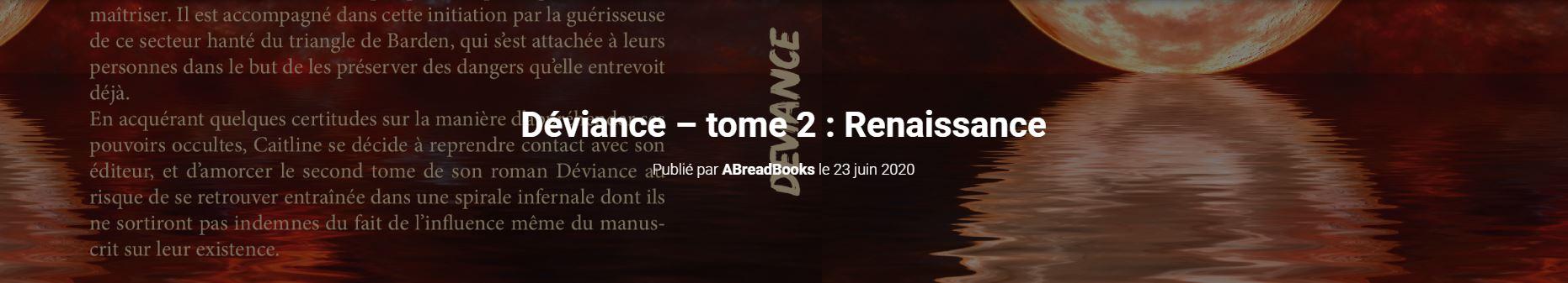 Site Abbey Read - Déviance Tome 2 Renaissance