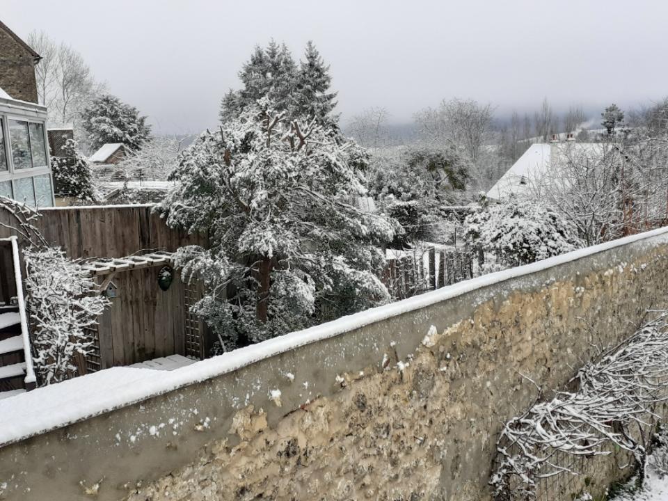 Bellême sous la neige, janvier 2021