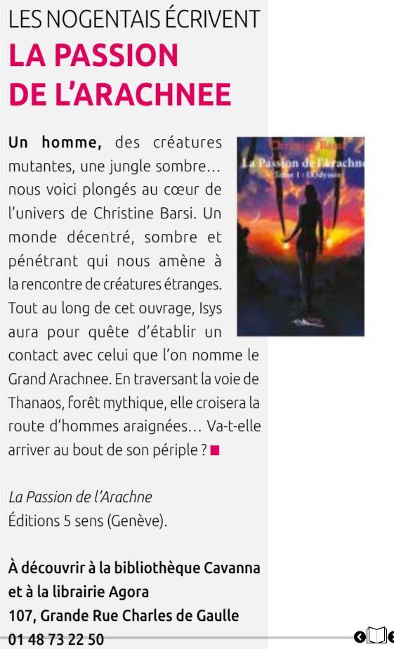 Nogent Mag 128 - Juillet Aout 2020 - La Passion de l'Arachnee - L'Odyssée
