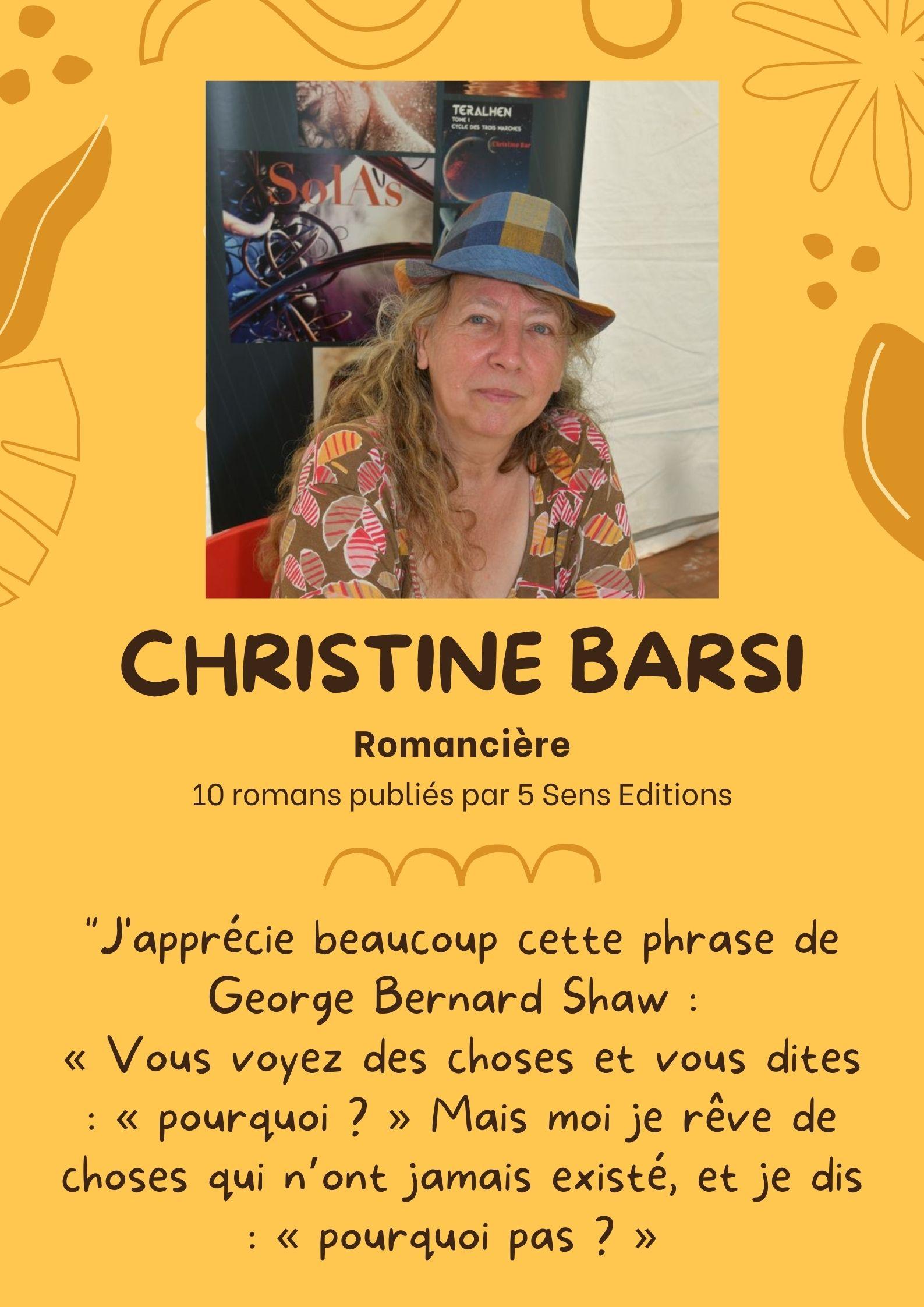 L'auteure Christine Barsi sur Mennecy